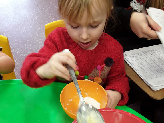 Baking with the Children at Little Ducklings Nursery, Wombwell