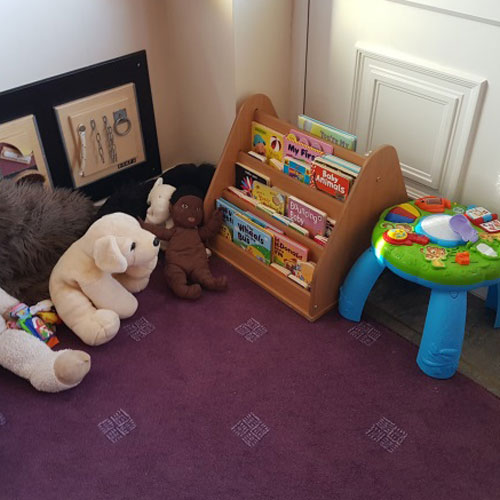 Book Area in the Baby Room at Little Ducklings Nursery, Wombwell, Barnsley