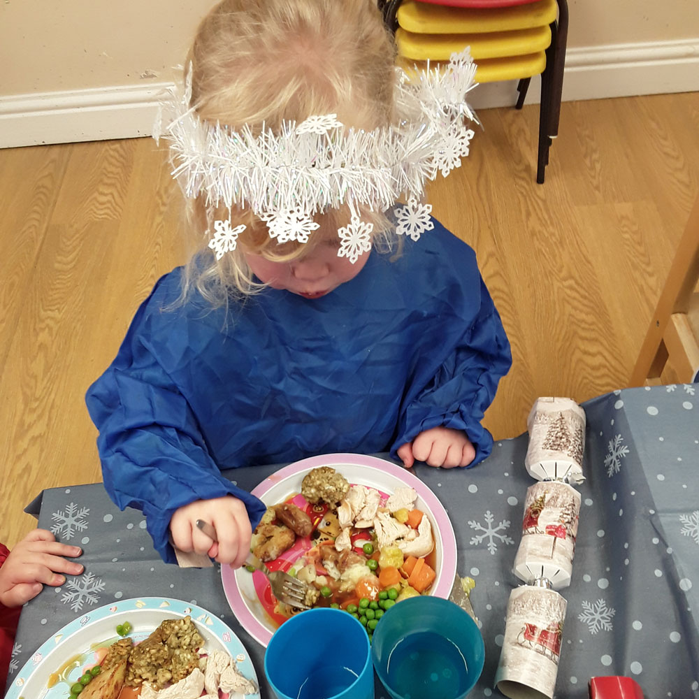 Christmas Dinner 2019 at Little Ducklings Nursery, Wombwell, Barnsley