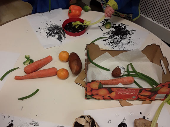 Creative Painting Activity at Little Ducklings Nursery, Wombwell, Barnsley