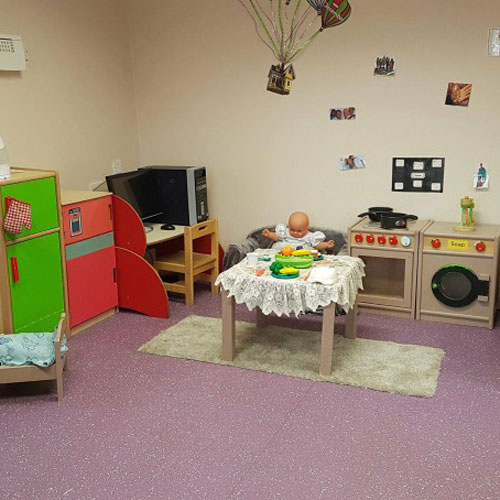 Home Corner Area in the Pre-School Room at Little Ducklings Nursery, Wombwell, Barnsley
