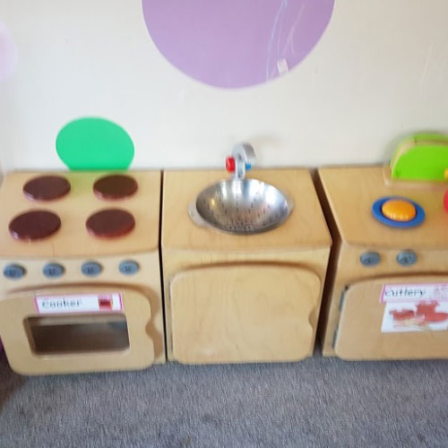 Home Corner Area in the Baby Room at Little Ducklings Nursery, Wombwell, Barnsley