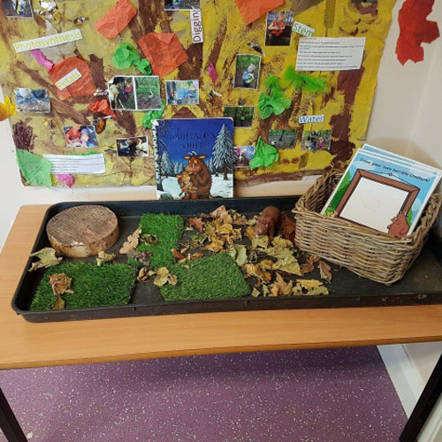 Investigation Area in the Pre-School Room at Little Ducklings Nursery, Wombwell, Barnsley