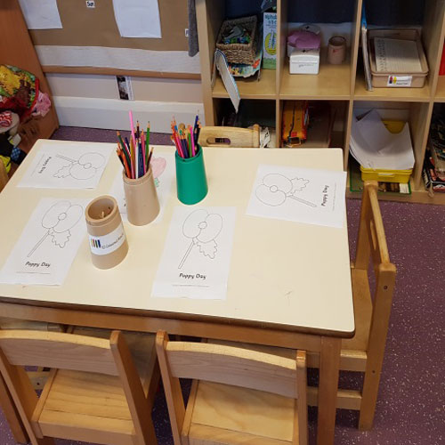 Literacy Area in the Pre-School Room at Little Ducklings Nursery, Wombwell, Barnsley