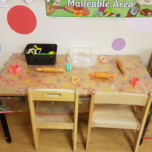Malleable Area in the Toddler Room at Little Ducklings Nursery, Wombwell, Barnsley
