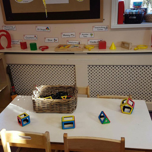 Maths Area in the Pre-School Room at Little Ducklings Nursery, Wombwell, Barnsley