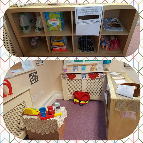Role-Play Area in the Pre-School Room at Little Ducklings Nursery, Wombwell, Barnsley