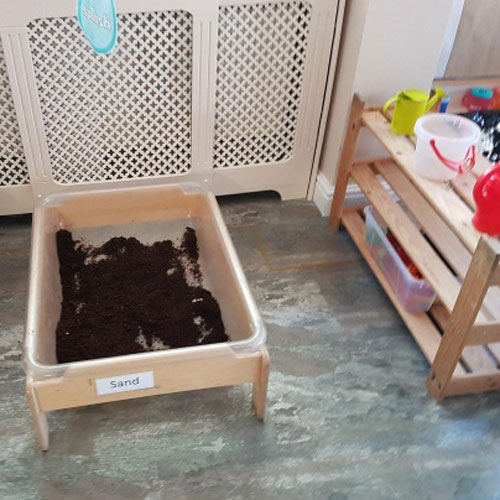 Sand & Water Area in the Baby Room at Little Ducklings Nursery, Wombwell, Barnsley