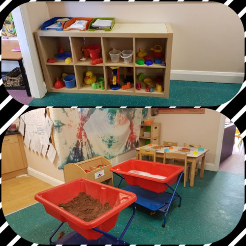 Sand & Water Area in the Pre-School Room at Little Ducklings Nursery, Wombwell, Barnsley