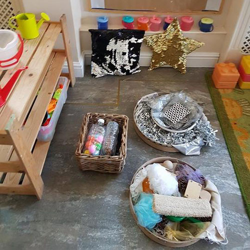 Sensory Play Area in the Baby Room at Little Ducklings Nursery, Wombwell, Barnsley