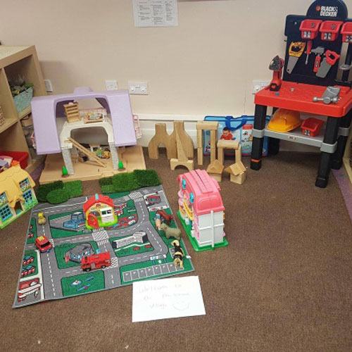 Small World & Construction Area in the Pre-School Room at Little Ducklings Nursery, Wombwell, Barnsley
