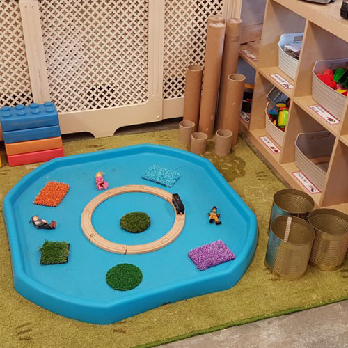 Small World Area in the Baby Room at Little Ducklings Nursery, Wombwell, Barnsley