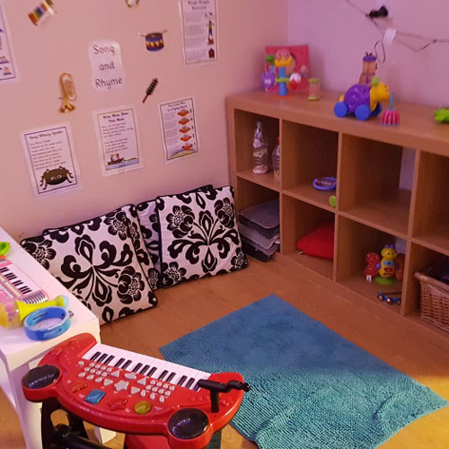 Song & Rhyme Area in the Toddler Room at Little Ducklings Nursery, Wombwell, Barnsley